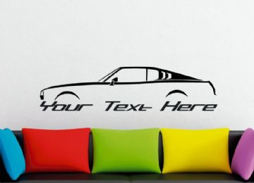 Large Custom car silhouette wall sticker - for Toyota Toyota Celica Liftback 1st gen ra25  | classic